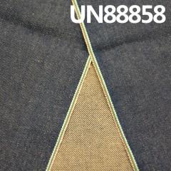 UN88858热卖款 全棉斜纹竹节(白色/ 绿红白)色边牛仔布14.7盎司