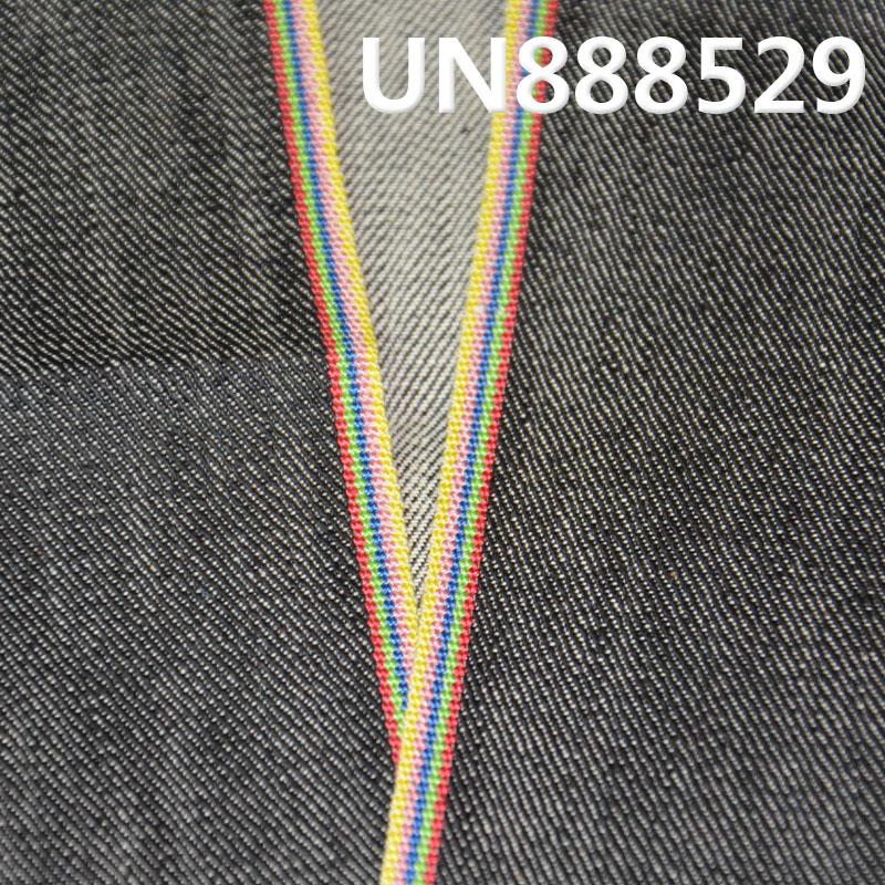 """UN888529 棉彈竹節色邊牛仔布  32/33""""  10OZ"""