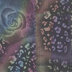 CP-30072全棉精梳牛仔印彩喷玫瑰花布 厂家现货直销