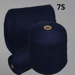 7S全棉活性染色纱7s环锭纺纱(硫化蓝)