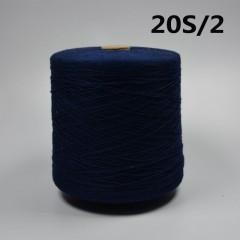 20/2s全棉活性染色纱20/2s环锭纺纱(绿色|蓝色|墨绿色|酒红色|灰色|军绿色|紫色)