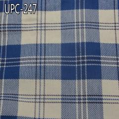 """定做款 全棉色织格子布 319g/m2 57/58"""" 全棉牛仔藍色織格仔布 UPC-247"""