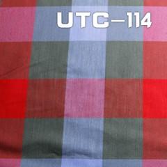 """UTC-114  棉弹双面斜纹抗菌色织布180g/m2  48/50"""""""
