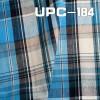 "UPC-184  C/C21SX21S/80x60湖兰/克/浅黄色织格子   55/56"""