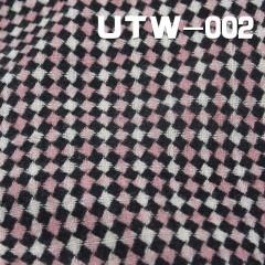 """UTW-002   色織格仔絨布  57/58"""" 268G/M2"""