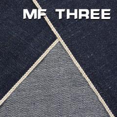 """MF THREE 全棉竹節養牛色邊牛仔布 34/35"""" 13.66OZ"""