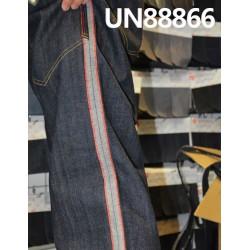 【牛仔裤供应】 UN88866 全棉色边牛仔裤