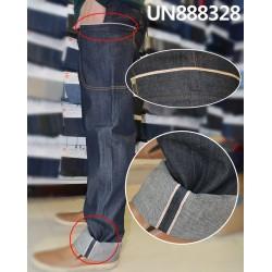 【牛仔裤供应】 全棉右斜直竹色边牛仔裤 UN888328