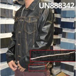 【牛仔上衣供应】全棉直竹色边牛仔上衣 UN888342
