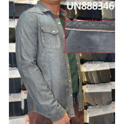 【牛仔衬衫供应】 全棉平紋色邊牛仔衬衫 UN888346