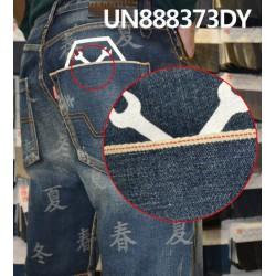 【牛仔裤供应】全棉提花牛仔裤 UN888373DY