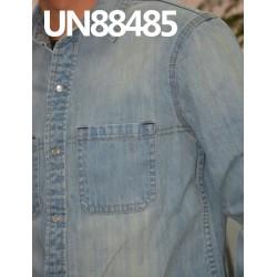 【牛仔上衣供应】全棉竹節斜紋牛仔絲光 UN88485