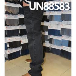 【牛仔裤供应】全棉斜纹竹节染色牛仔裤 UN88583