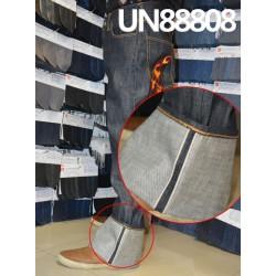 【牛仔裤供应】全棉橫竹色邊牛仔裤 UN88808
