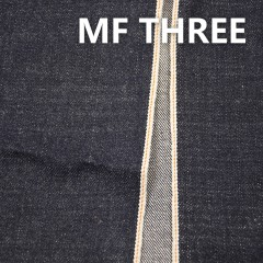"MF THREE 全棉竹节养牛色边牛仔布 34/35"" 16.42OZ"