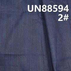 """UN88594 26.4%滌0.2%彈73.4%竹节右斜牛仔布 57/58"""" 10oz (蓝色)"""