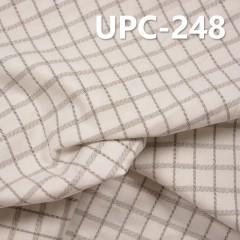 """棉金属丝色织格子布 151g/m2 62/63""""【半漂】UPC-248"""