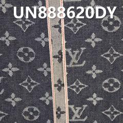 """UN888620DY 100%棉左斜提花紅邊牛仔布31/32"""" 13.4oz"""