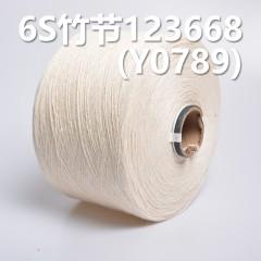 6S竹节全棉环定纺纱线123668 Y0789