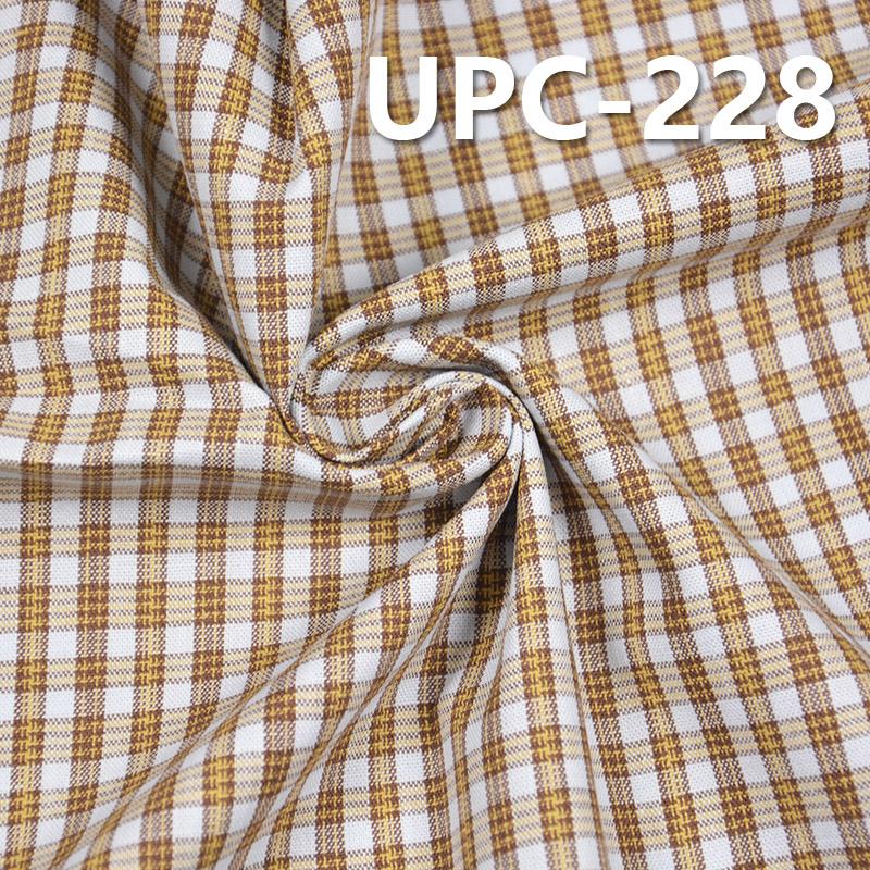 """全棉色织格子布 140g/m2 57/58"""" UPC-228"""