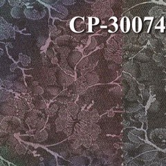 "CP-30074涤棉弹力四片S斜纹布彩喷桃花 52/54""308g/m2"