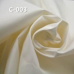 """【半漂】C-003 全棉精梳防羽平紋染色  57/58"""" 144g/m2"""
