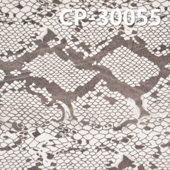 "CP-30055 棉彈色丁布+燙蛇皮花46/47""  221g/m2"