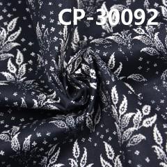 "CP-30092 棉彈力斜纹印树叶花165g/m2 46/48"""