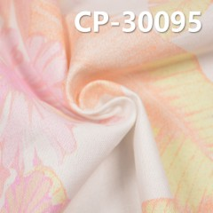 "CP-30095 麻棉布印热带风情花 175g/m2 54/56"""