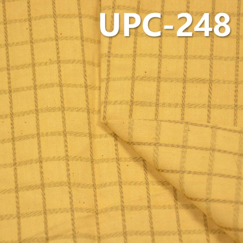 棉色织格子布 151g/m2 62/63