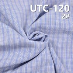"""滌棉色織格子布 155g/m2 55/56"""" UTC-120"""