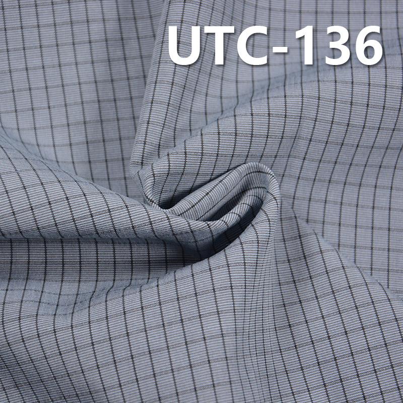 滌棉色織格子布 145g/m2 55/56