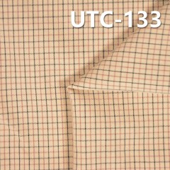 """滌棉色織格子布 140g/m2 55/56"""" UTC-133"""