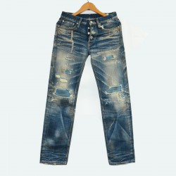 【自家牛仔】 威络 清新自然水洗 牛仔修身直筒长裤 WIROTE