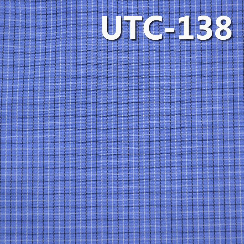 滌棉色織格子布 140g/m2 55/56