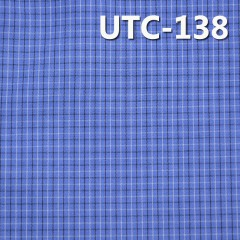 "UTC-138 滌棉色織格子布  55/56"" 140g/m2"