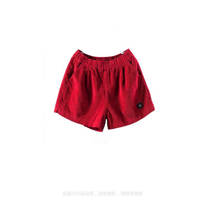 灯芯绒短裤