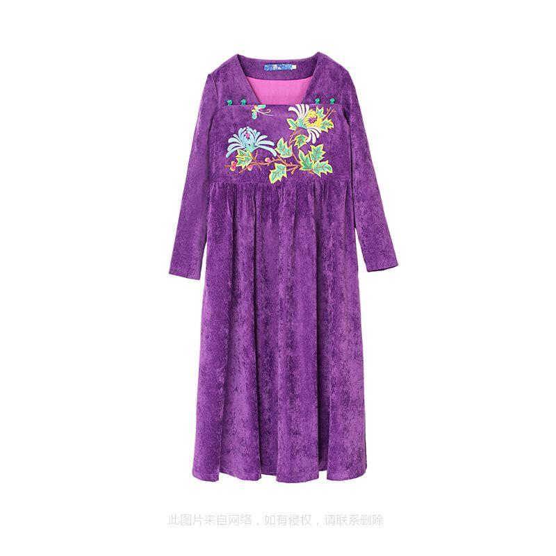 灯芯绒长裙