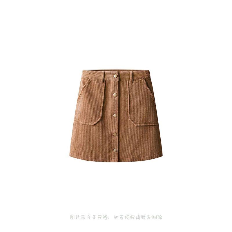 灯芯绒短裙2