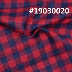 """全棉色织格子布 4.3OZ 57.5"""" 全棉学院风INDIGO色织格子布 #19030020"""