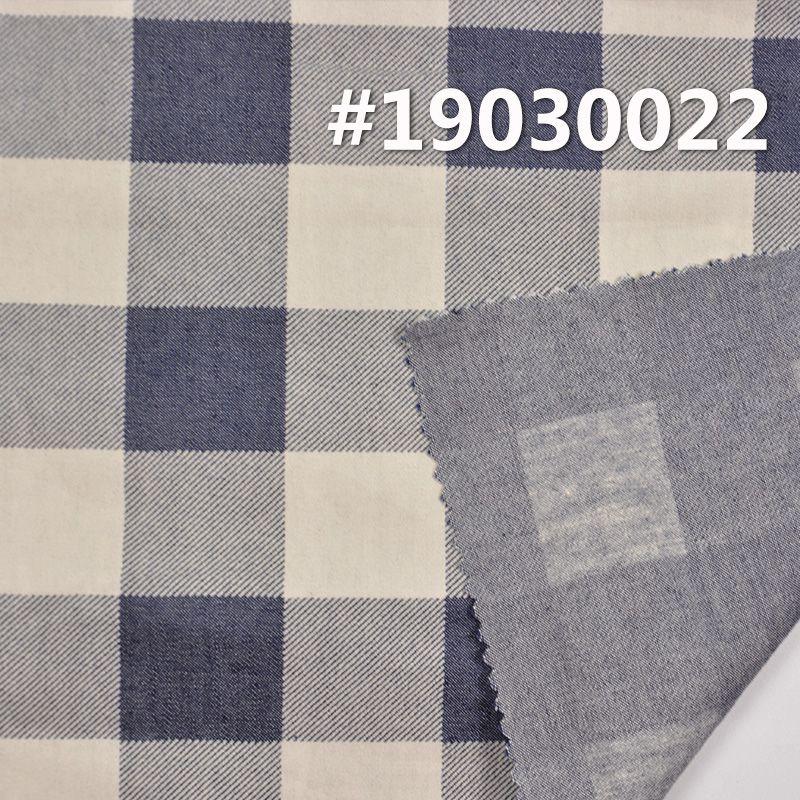 全棉蓝印花格仔布 4.5OZ 58.5