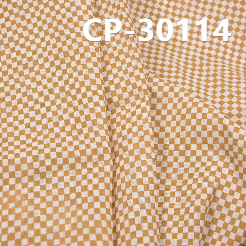 亚麻棉印花布 90g/m2 53/54