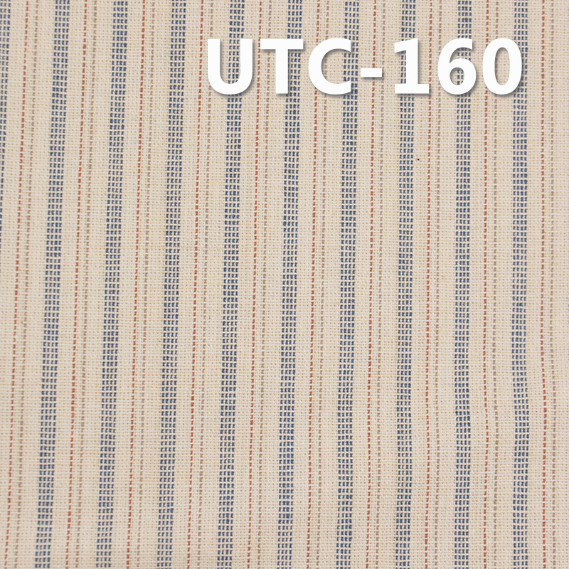 """棉涤色织条子布 200g/m2 57/58"""" 66%棉34%涤色织条子布UTC-160"""