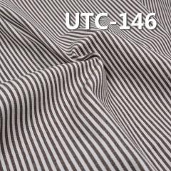 """棉涤色织条子布 310g/m2 58/59"""" 65%棉35%涤三片斜色织条子布 UTC-146"""