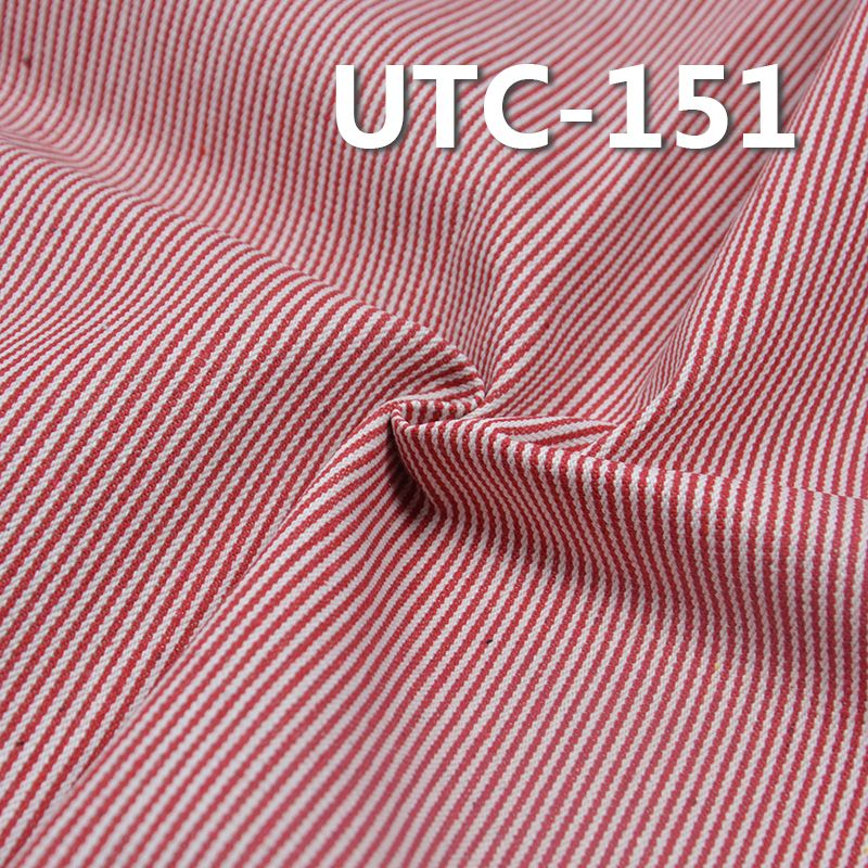 棉涤色织条子布 360g/m2 58/59