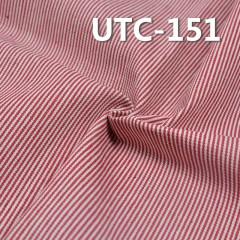 """棉涤色织条子布 360g/m2 58/59"""" 65%棉35%涤三片斜色织条子布 UTC-151"""