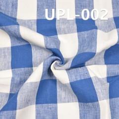 """全亚麻色織格仔布260g/m2 56/57"""" UPL-002"""