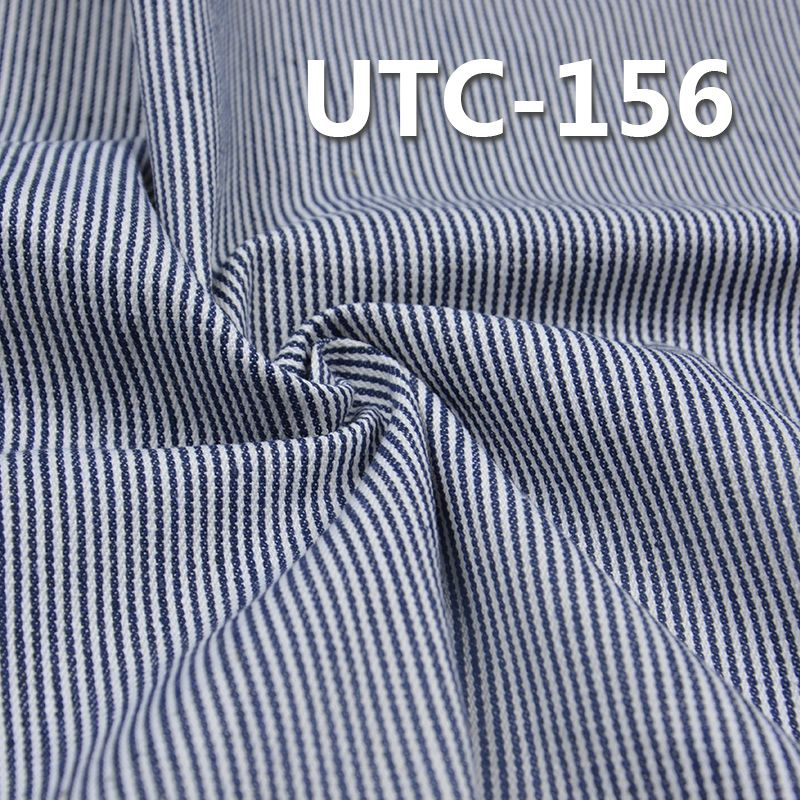 棉涤色织条子布 295g/m2 58/59