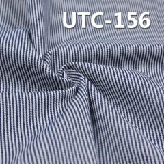 """棉涤色织条子布 295g/m2 58/59"""" 65%棉35%涤三片斜色织条子布 UTC-156"""