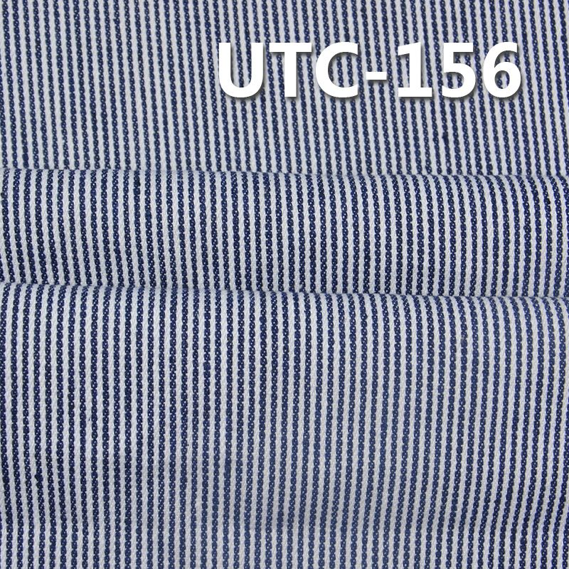 涤棉色织条子布 295g/m2 58/59